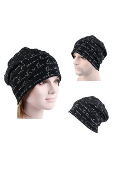 Bluelans Hip-Hop Cotton Polyester Knit Beanie Skull Hat (Black) (Intl)