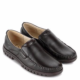 Giày Lười Nam Da Bò SunPoLo S812N (Nâu)