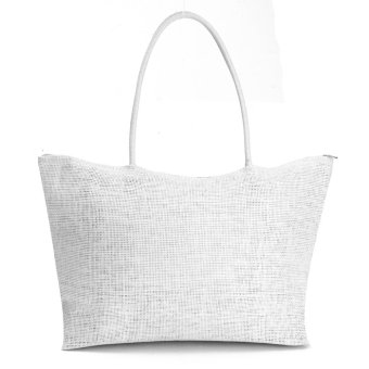 Teamtop Women Summer Straw Weave Shoulder Tote Shopping Lady Beach Bag Purse Handbag HOT White - intl