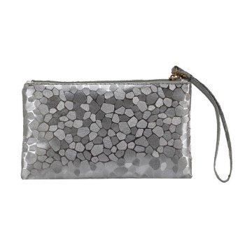 Fashion Women Coins Change Purse Clutch Zipper Zero Wallet Phone Key Bags Gray - intl