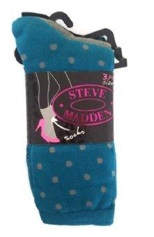 Bộ 3 Đôi Tất Nữ Steve Madden Legwear Women's Three-Pack Dot Crew Socks