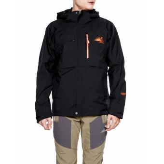 Áo khoác chống thấm đi mưa nam (Đen kéo cam)