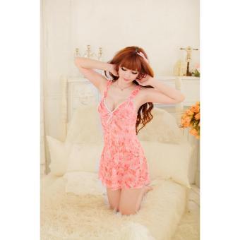 Váy ngủ gợi cảm B308 (Cam)