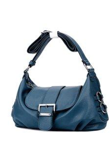 Túi nữ xách tay da thật Thành Long TLG T819-2 (xanh)