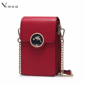 Túi đeo chéo đựng điện thoại Cá heo màu đỏ VG253