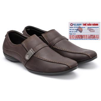 HL7111 - Giày da nam Huy Hoàng da bò màu nâu