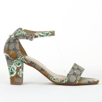 Sandal Hoa 7cm Màu Hoa Hồng xanh