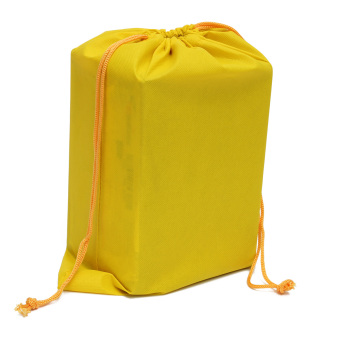Teamwin Non-woven Shoes Dress Bag Portable Travel Storage Pouches Drawstring Dust Bags Yellow - Intl