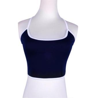Women Boho Tank Bustier Bra Vest Crop Top Bralette Blouse Cami Blue - intl