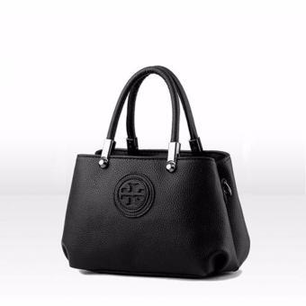 Túi nữ logo tròn nổi sang trọng Đen