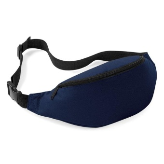 Unisex Bag Travel Handy Hiking Sport Fanny Pack Waist Belt Zip Pouch Navy Blue - intl