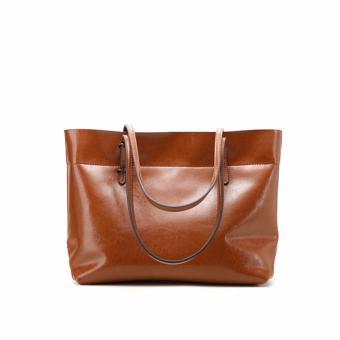 Túi xách nữ da thật cao cấp phong cách Châu Âu QSL072S dáng ngang (Cà phê) - 3697097
