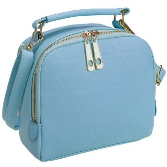 Sunweb Women Fashion Synthetic Leather Small Solid Candy Color Handbag Cross-Body Shoulder Bags ( Sky blue ) - intl