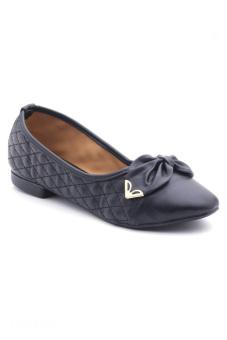 Giày búp bê nơ khóa Sarisiu XTH726 (Đen)