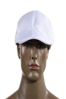 HKS Mens Vintage Flat Cap Peaked Racing Hat Beret Country Golf Newsboy(White) - intl
