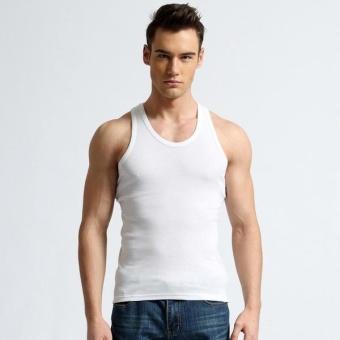 Áo thun ba lỗ nam màu trắng mẫu 1