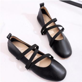 Giày búp bê đế bệt 207 (Đen)