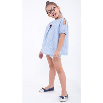 Áo kiểu bé gái Ugether UKID173 (Họa tiết)