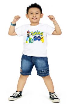 Áo thun bé trai Kỳ Khang BT18 (Trắng)