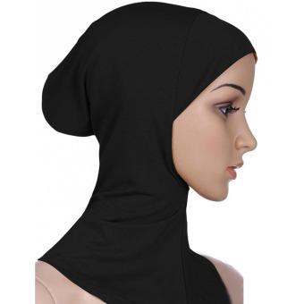 Women Muslim Modal Soft Flexible Head Neck Wrap Cover Inner Hijab Cap Hat Black - intl