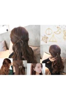 Kẹp tóc Hợp kim mạ vàng Hàn Quốc dễ thương cho các bạn gái (hình tròn)