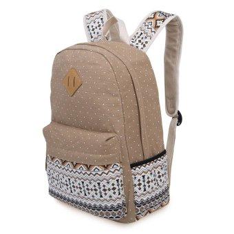 Polka Dot Printed Leisure Travel Backpack Schoolbag for Outdoor - Intl - intl