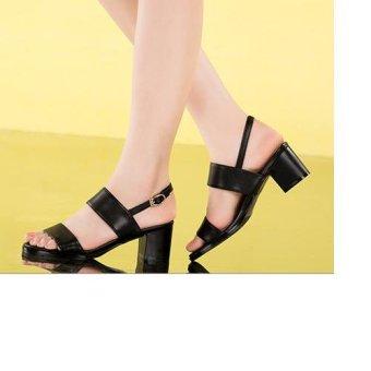 Giày sandal 2 quai ngang (Đen)