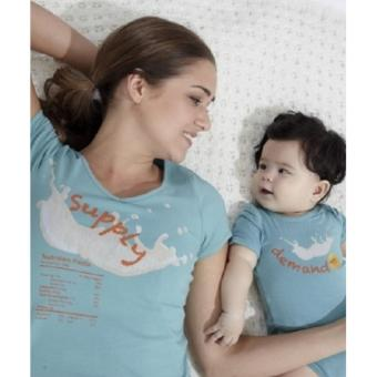 MEV Áo bầu Mothers En Vogue - Mom Supply Tee Beez - S - Dusky Turqoise