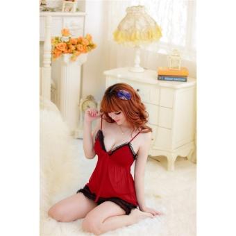 Đầm ngủ 2 dây quyến rũ midnight Chodeal24h (đỏ)