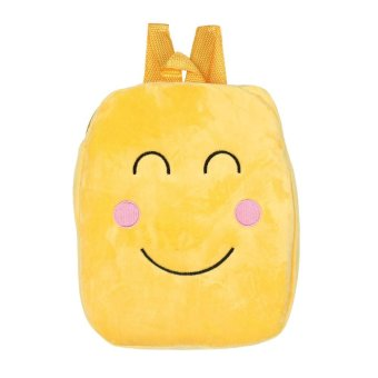 Cute Emoji Emoticon Shoulder School Child Bag Backpack Satchel Rucksack Handbag - intl