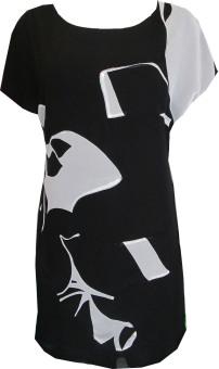 Đầm Dạo Phố - D246 Black White (Trắng – Đen)