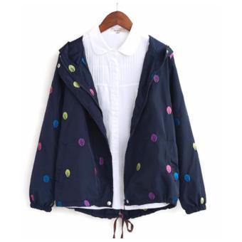 Áo khoác nữ tay dài thêu hình chiếc lá LTTA106