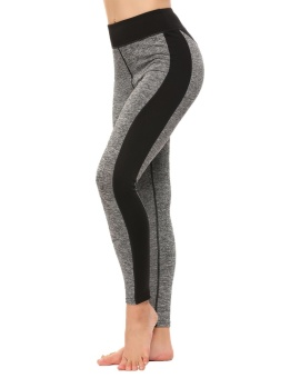 Cyber Women Athletic Gym Yoga Sports Trousers Workout Fitness Leggings Pants ( Grey ) - intl