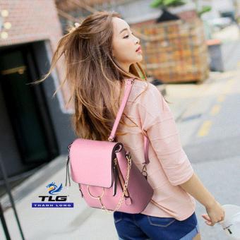 Túi nữ thời trang phong cách Hàn Quốc 2 trong 1 Đồ Da Thành Long TLG 208100 4(hồng)