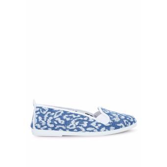 Giày Lười Flossy Xabia (Xanh Da Báo)