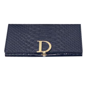 Lady Leather Wallet crocodile pattern (Black) - Intl