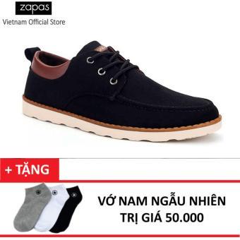 Giày Sneaker Thời Trang Zapas GS022 (Đen) + Tặng Vớ Nam