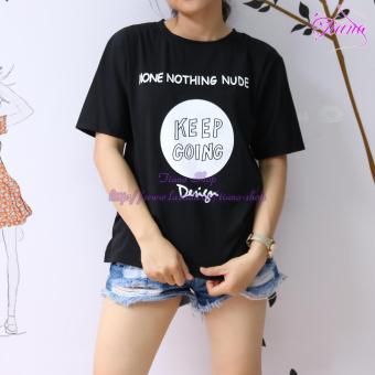 Áo Thun Nữ Tay Ngắn In Hình Keep Going Dễ Thương Tiano Fashion LV310 ( Màu Đen )