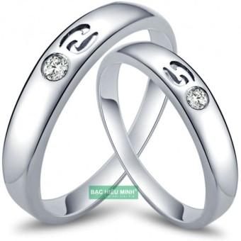 Nhẫn đôi Bạc Hiểu Minh nc319 cung cự giải 22.6-22.7