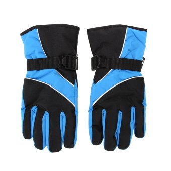 Men Ski Gloves Waterproof (sky blue) - intl