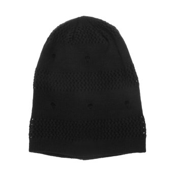 Winter Unisex Knit Hat Black (Intl)