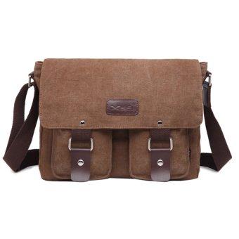 Men's Vintage Canvas School Satchel Shoulder Messenger Bag(coffee) - INTL