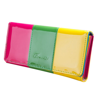 Wallet Small Fresh Wallet Mobile Phone Bag Green - Intl