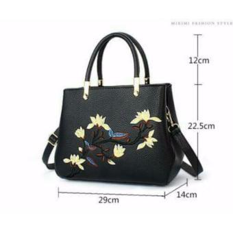 Túi xách công sở thêu hoa cao cấp Letin T68-SP-2A5 ĐEN