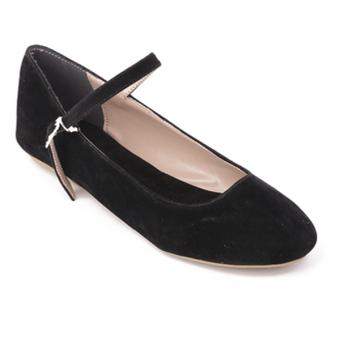 Giày búp bê trơn Dolly & Polly DL1004 (Đen)