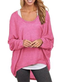 ZANZEA Women Plus Long Sleeve Knitted Casual Loose Baggy Tops - Intl