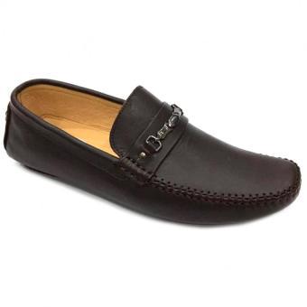 Giày lười da thật nam Everest D84