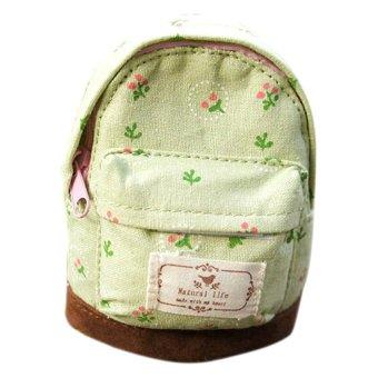 Fancyqube Mini Floral Print Backpack (Green)
