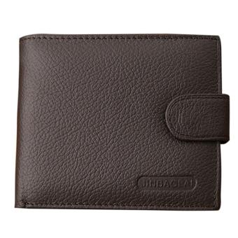 Men's Genuine Leather Cowhide Bifold Wallet Purse(Brown) - intl