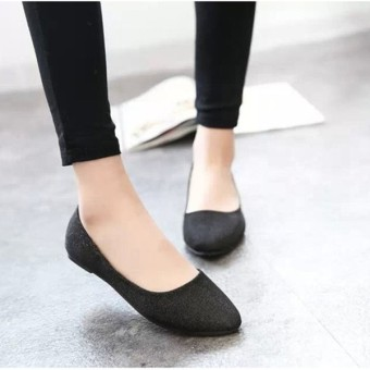 Women OL Slip On Loafers Casual Glitter Ballet Ballerina Flats Shoes Candy Color - Intl